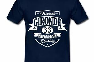 T Shirt Aquitaine bleu m homme Gironde 33 Number one