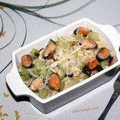 Coquillettes aux courgettes et aux moules façon One Pasta - Chez Vanda
