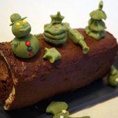 Bûche au chocolat, cœur praliné croustillant - Perrine cuisine