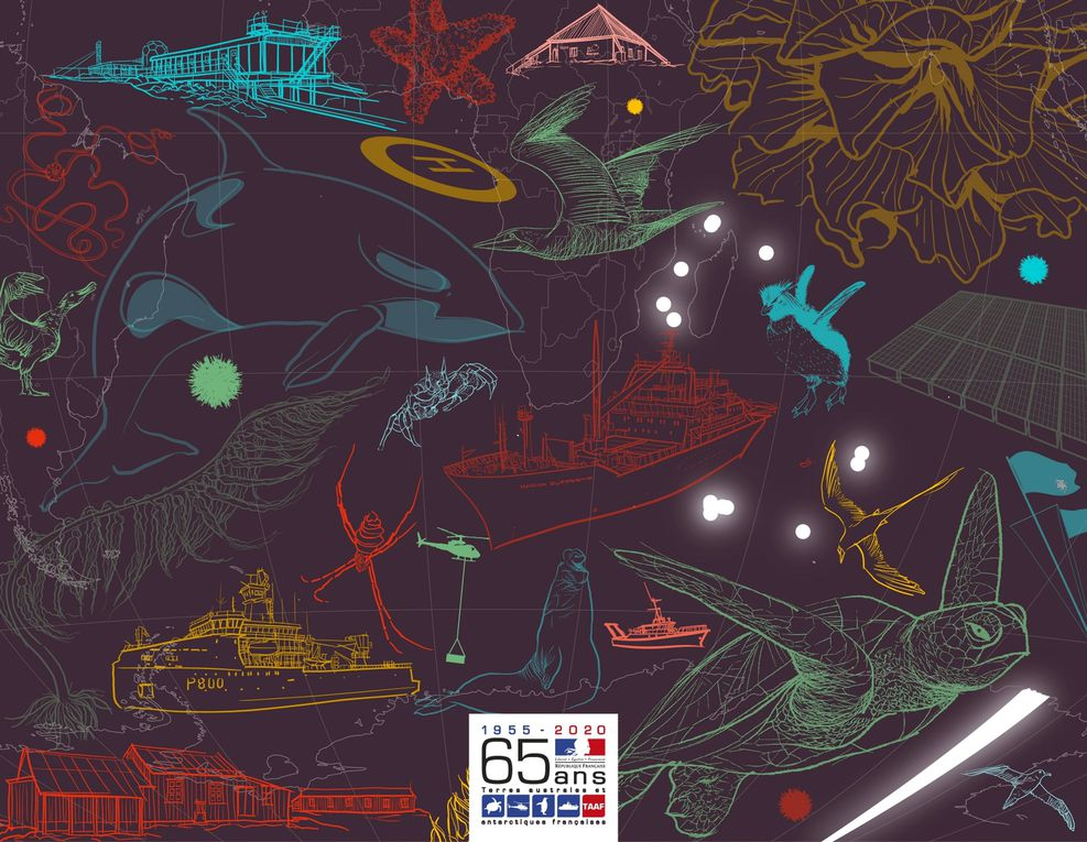 La carte de voeux réalisée par Patte & Besset, une animation sur onze visuels.