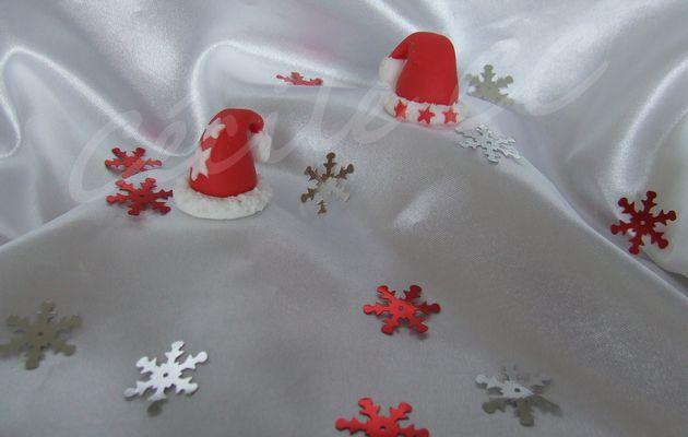 Faire un bonnet de Noël en pâte à sucre...