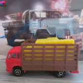 213-D CAMION MERCEDES FOURRAGERE MAJORETTE 1/100 - BETAILLERE - car-collector.net