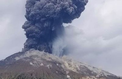 Activity of Sakurajima, Etna, Lewotolok and Semeru