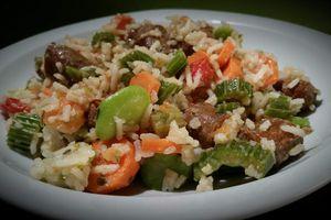 Riz poêlé aux Merguez et légumes