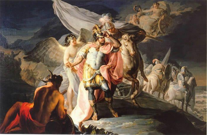 1770 Hannibal vainqueur contemple pour la première fois l'Italie depuis les Alpes