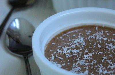 Panna cotta noix de coco chocolat, sans sucre ajouté ! (avec ou sans Cook'in)