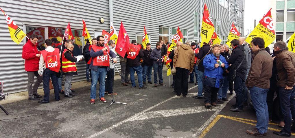 Grève du 26 avril : 150 cheminots rassemblés au pôle social du Mans