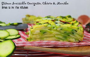 Gâteau Invisible Courgette, Chèvre et Menthe