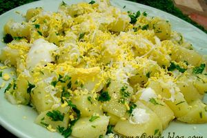 salade de pomme de terre aux oeufs