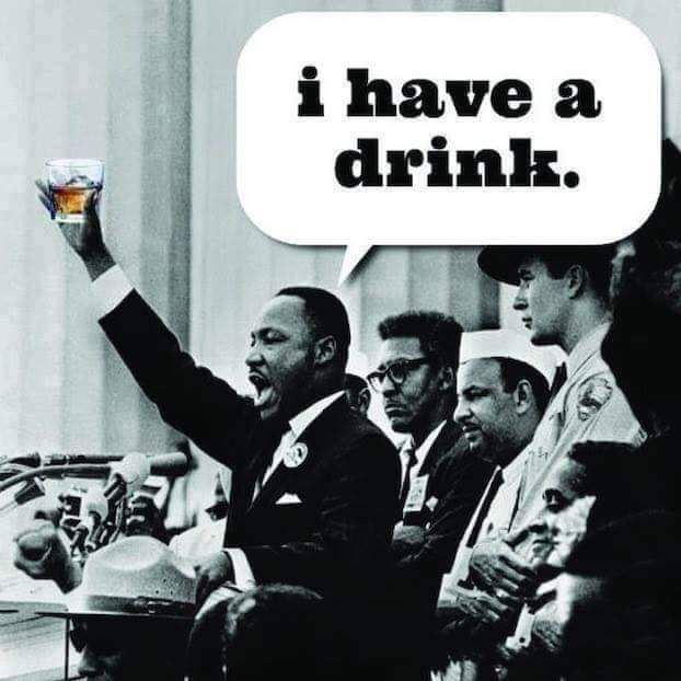I have a drink.