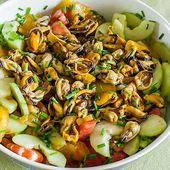 Salade grecque aux moules et crevettes