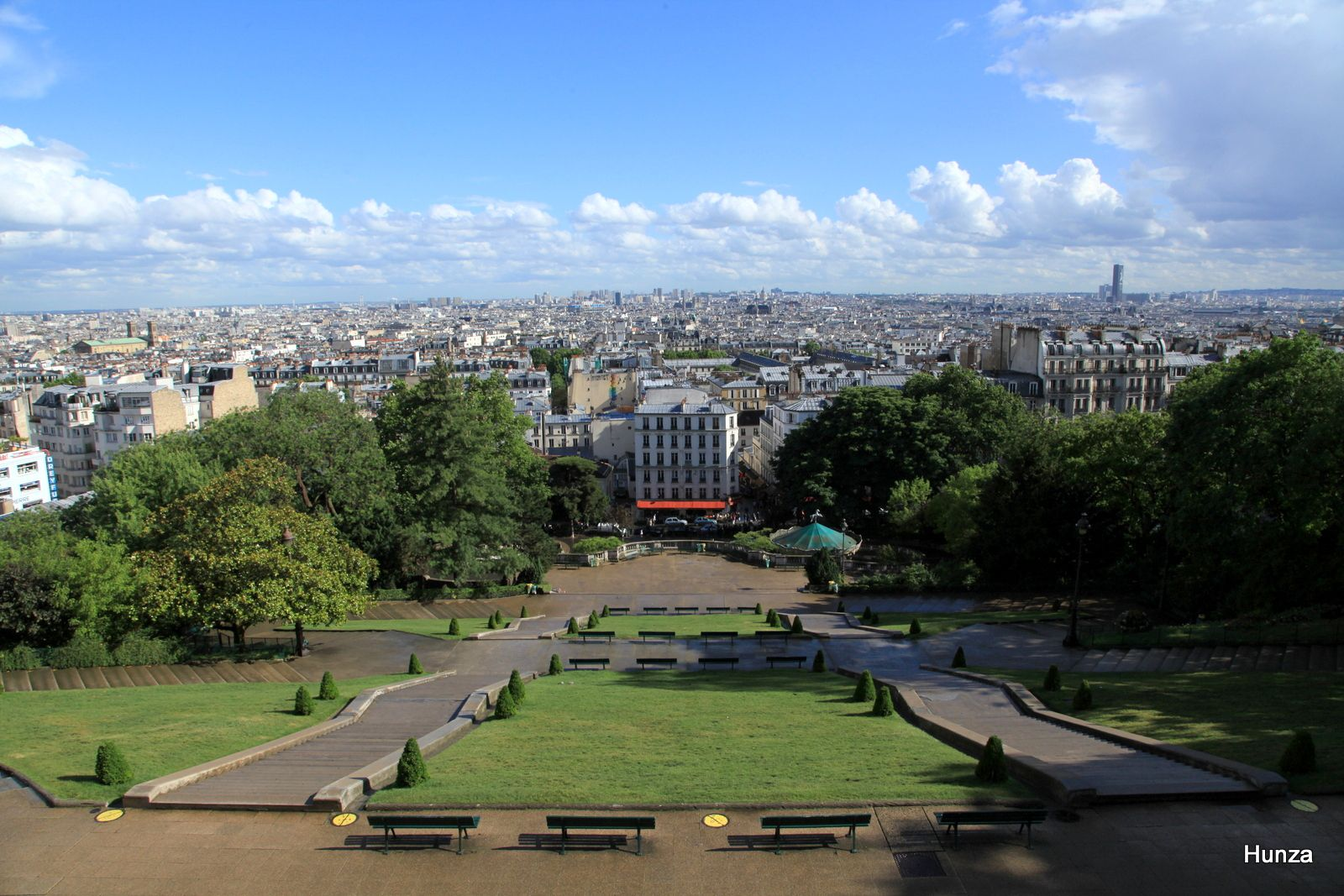 Butte Montmartre, le square Louise Michel