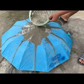 Creative Ideas from Cement and Rain Umbrellas - Fantastic Garden Design from Recyclables