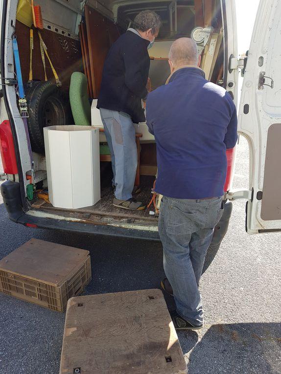 le 26 avril 2021 - Les bénévoles d' Emmaüs NDG nous apportent du matériel une nouvelle fois