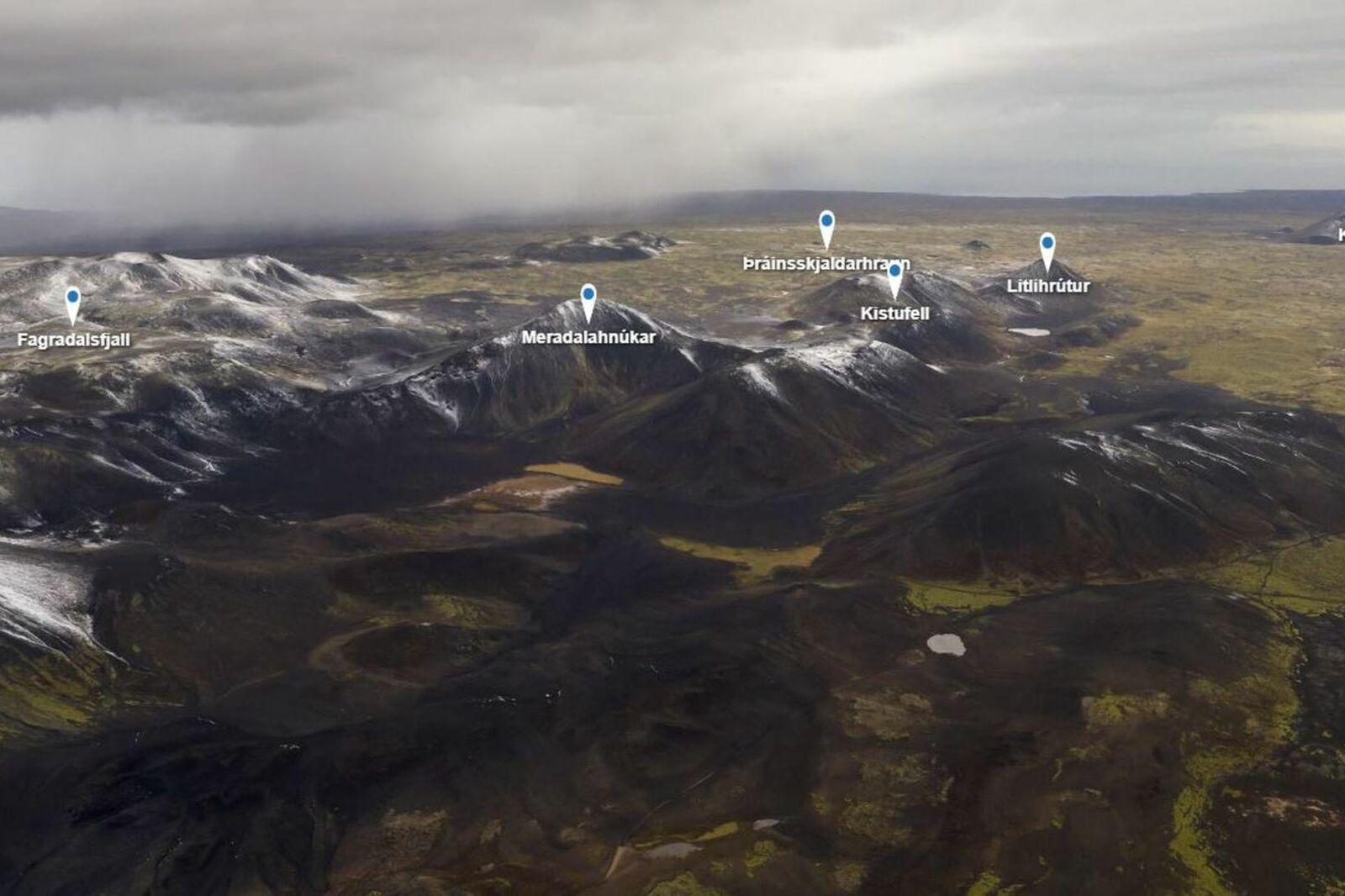 Péninsule de Reykjanes - environs de  Fagradalsfjall  - Doc.  Skjáskot  Iceland 360 VR  via mbls