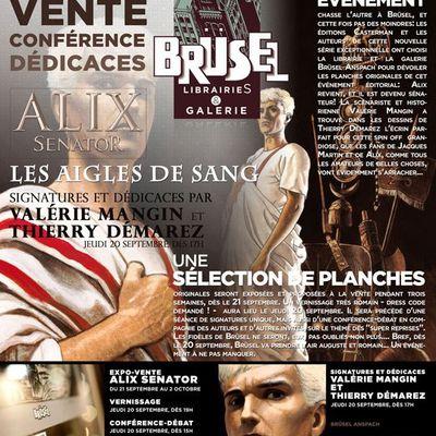 News! - Exposition-vente et dédicaces Alix chez Brüsel !