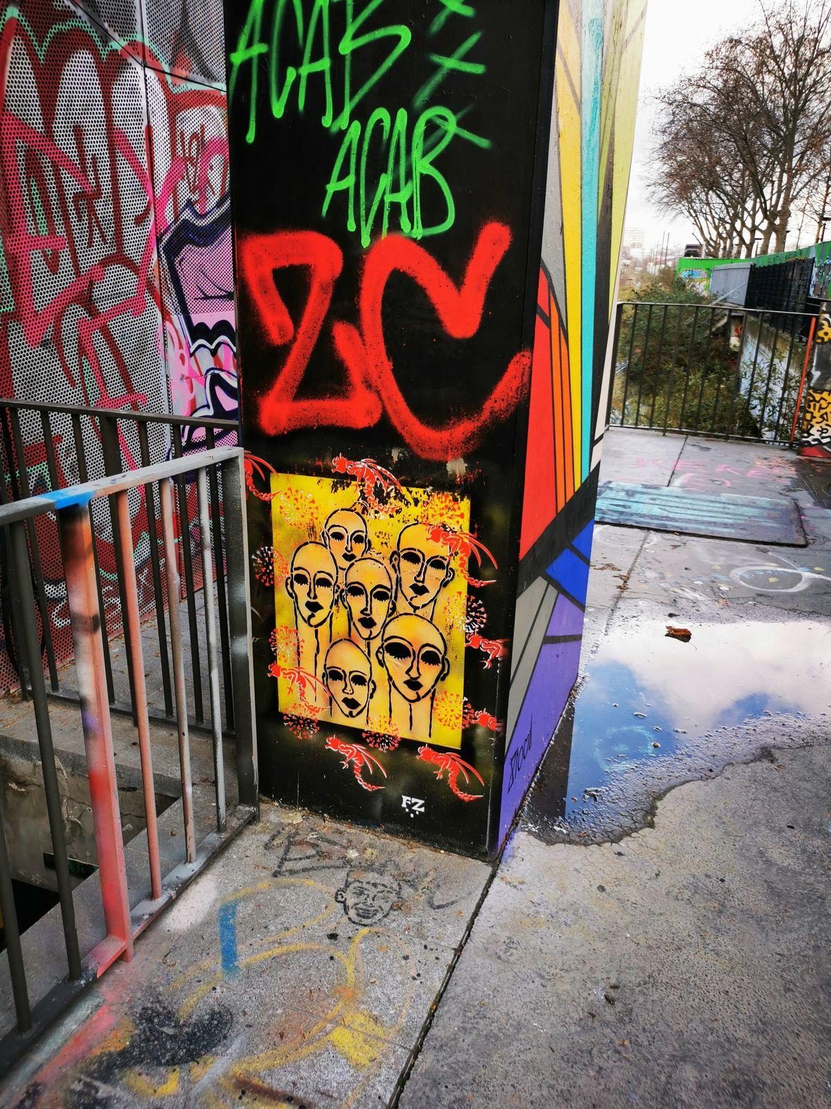 Street art dans le 13eme, autour du Lavo//matik