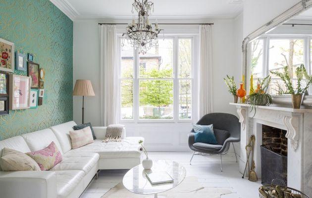 De petites touches de couleurs pour une maison blanche