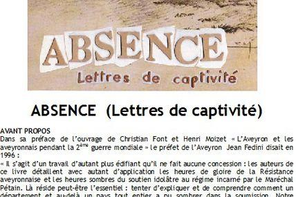 """Les """"Lettres de Captivité"""" (Ed. L'Ours Blanc) en scène le 16 juin à MONTBAZENS"""