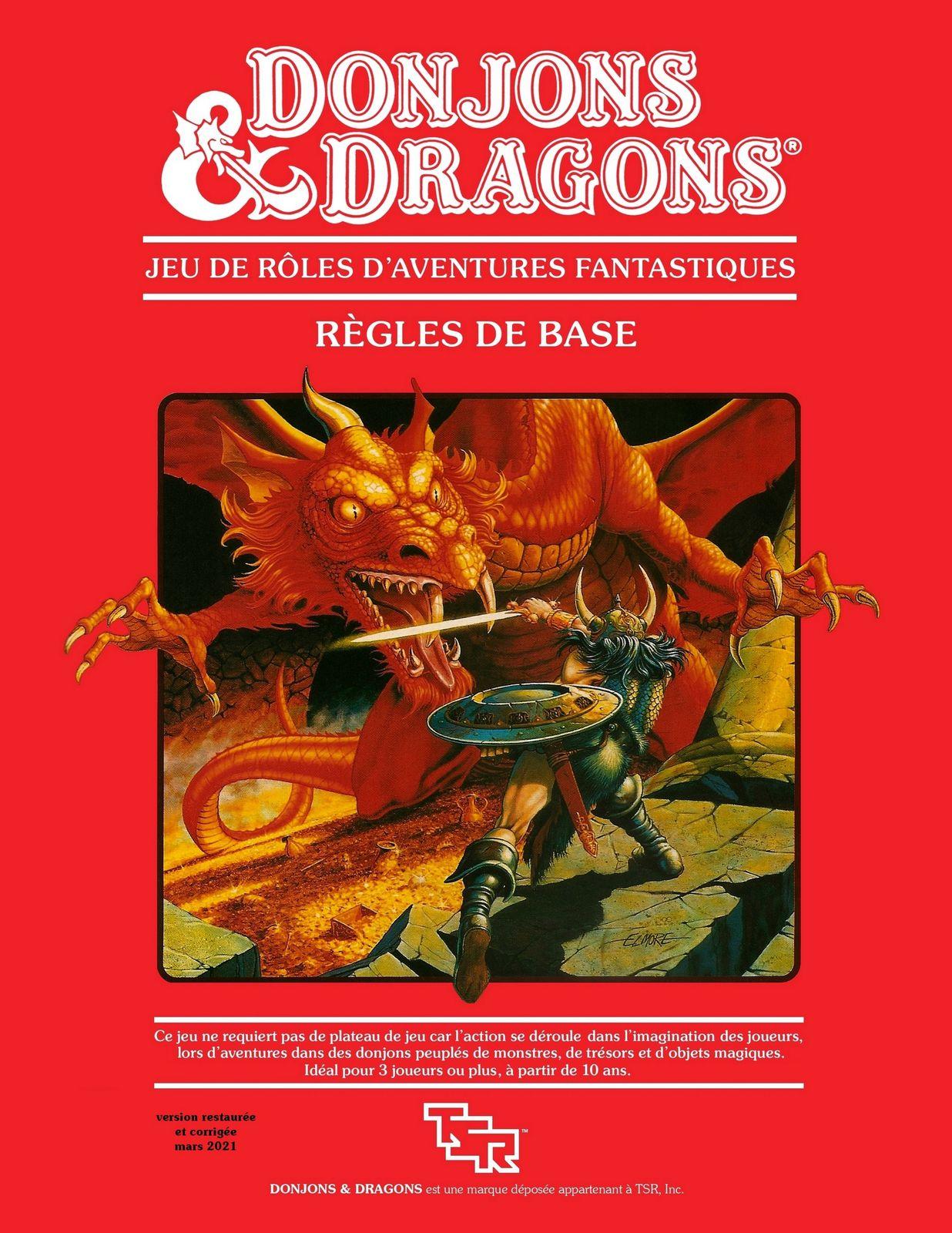 D&D règles de Base... la version livre !