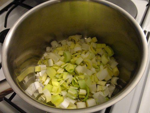 Raviolis et bouillon de légumes