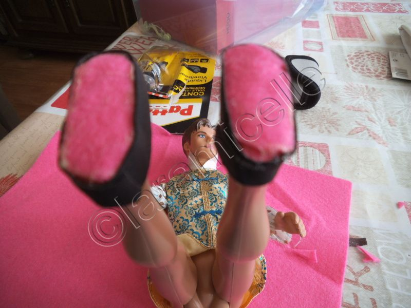 tuto gratuit barbie: mocassins en cuir pour ken