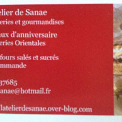 L'Atelier de Sanae patisseries et gourmandises