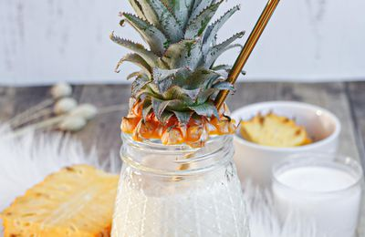 Mocktail Pina Colada (cocktail sans alcool)