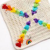 Crochet : Carré 97 et 98 - Le blog de mes loisirs