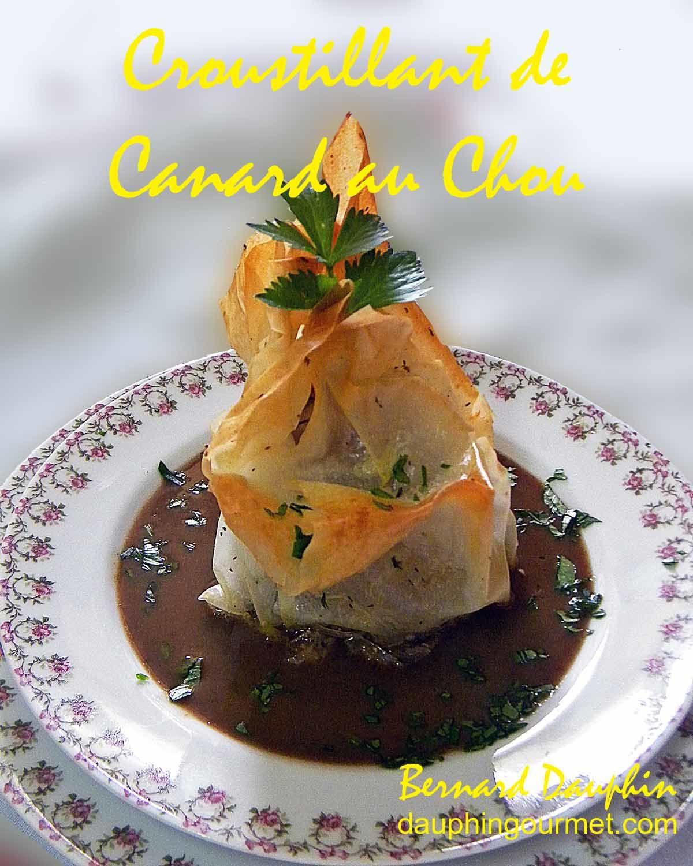 CROUSTILLANT DE CANARD AU CHOU