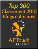 Les résultats du classement 2010 AFTouch Cuisine