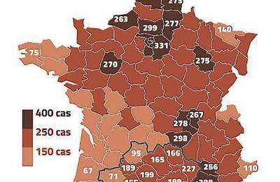 COVID - 19: baisse du taux d'incidence dans la plupart des départements