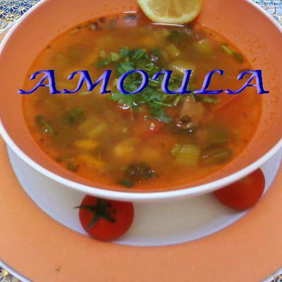 Soupe de boulgour avec de la viande et des légumes...شوربة البرغل باللحم والخضار