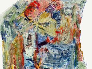 Peinture et collage, et dessin, de Madeleine Gautier-Brun