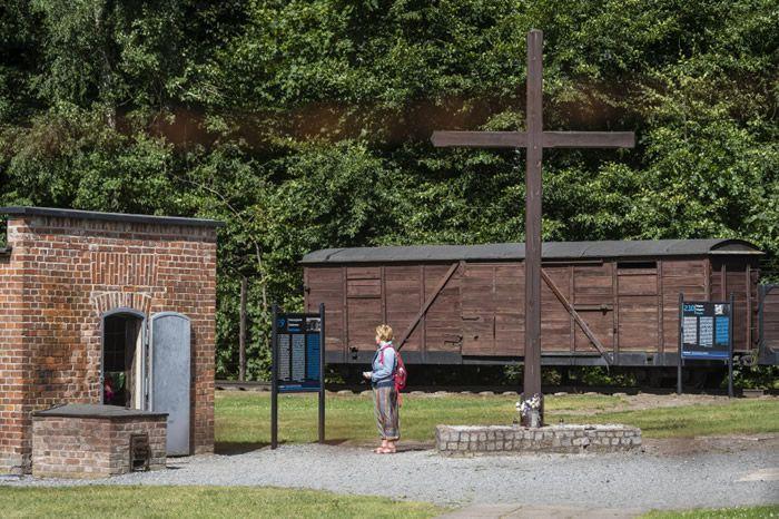 L'ancien camp de concentration de Stutthof, en Allemagne. Crédit : Wojtek RADWANSKI / AFP