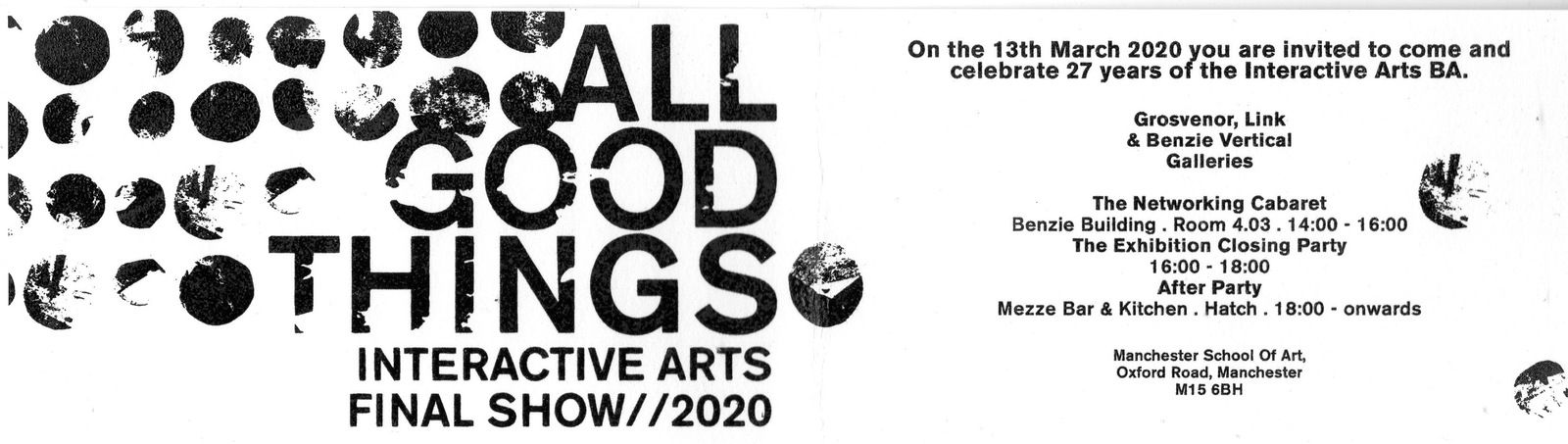 All Good Things - Manchester Shool of Art