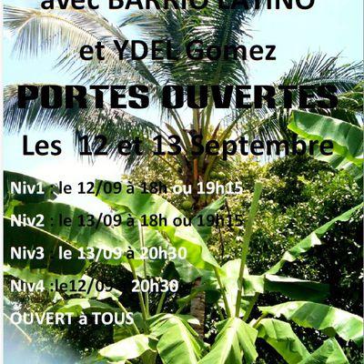 Porte ouverte salsa avec barrio latino le 12 et 13 septembre aux océanides