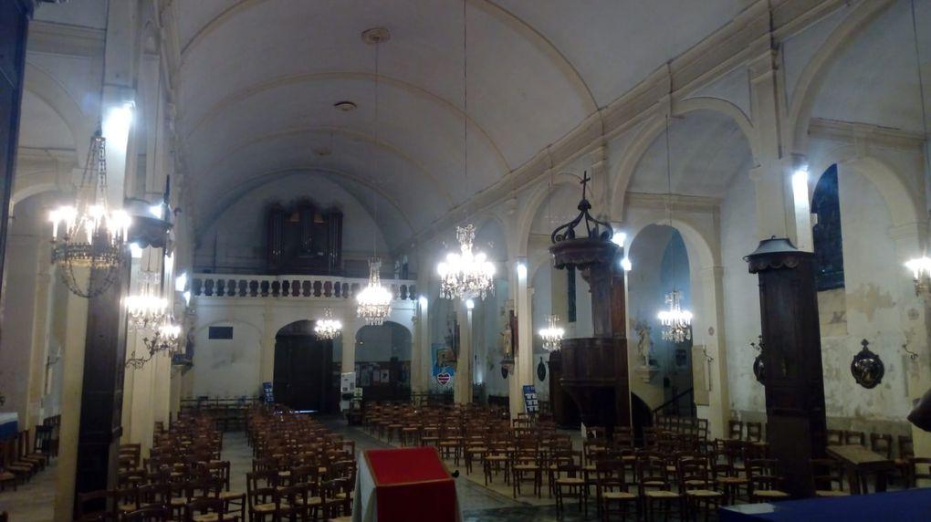 28 avril : Nouvel éclairage de l'église st Martin-Pons