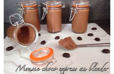Mousse choco express au blender