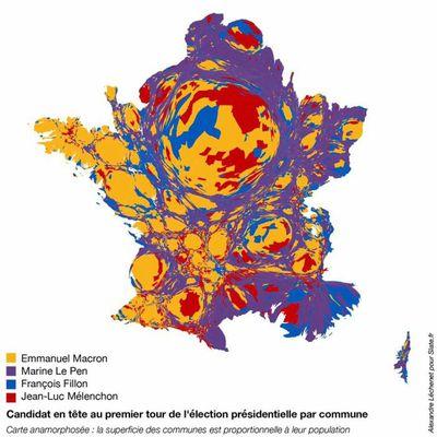 Cartes de France élections présidentielles 2017