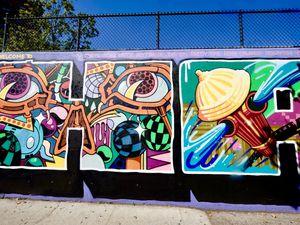 Hall of Fame, une école pas comme les autres...pari fou réussi par un certain Sting Ray en 1980, celui d'attirer tous les artistes de rue, ravis de disposer d'un support commun et visible par tous (à l'angle de la 106th Street et Park Avenue)