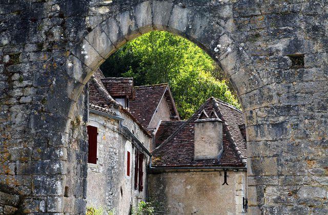 Saint-Cirq Lapopie en fin d'été