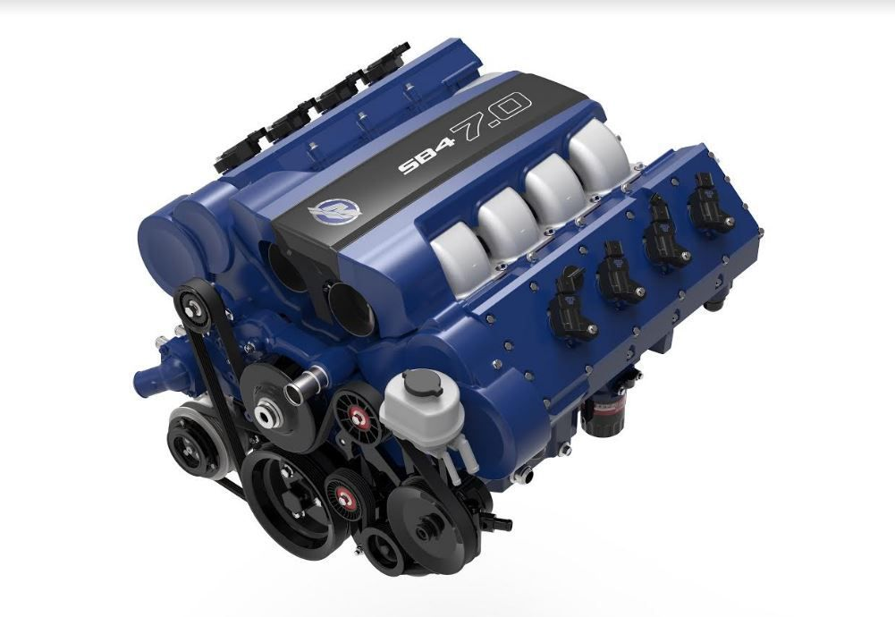 From the Sea to the Road : SB4, a new 7.0 automotive crate engine by... Mercury Racing