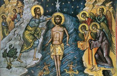 A propos du Baptême de Jésus...