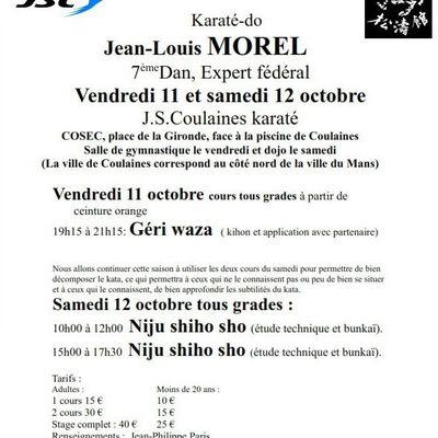 Stage avec Jean-Louis MOREL
