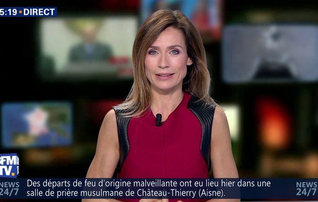 📸📺 SANDRA LARUE @JohannaCarlosD8 pour LA METEO cet apm @BFMTV #vuesalatele