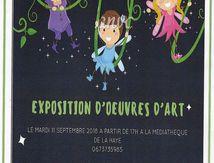 Exposition d'oeuvres d'art à la Médiathèque de la Haye