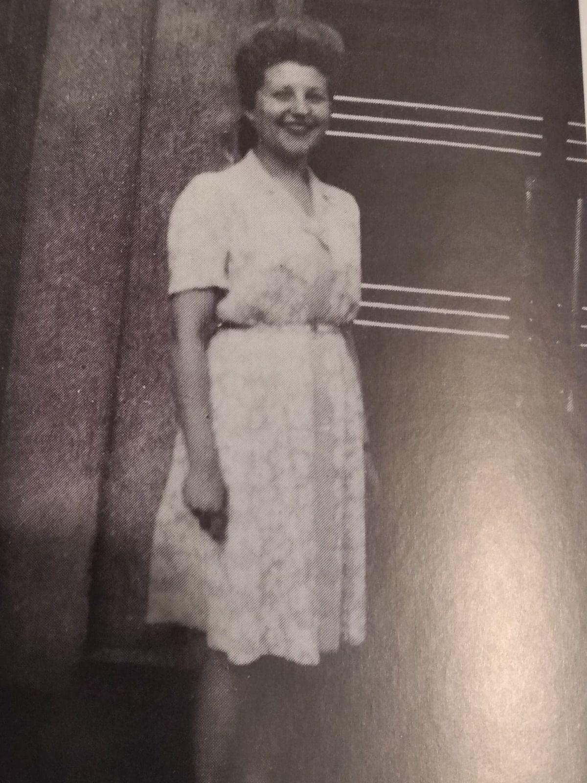 Suzy Medrzycka épouse Cohen - Source Lecteurs de l'Humanité, photo tirée du livre d'Antoine Porcu au Geai Bleu: Héroïques - Femmes en résistance II, avec une préface de Pierre Outteryck