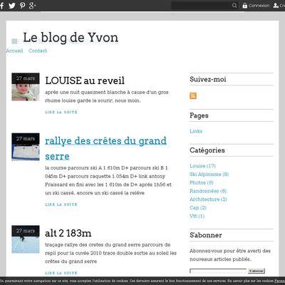 Le blog de Yvon