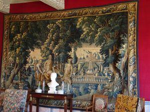 Deux des belles tapisseries d'Aubusson de l'Hôtel de Rolland